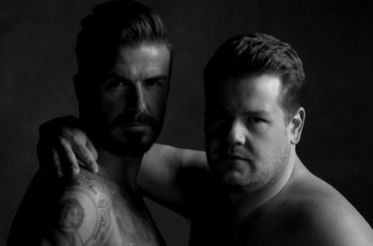 There's no greater sight than two beautiful men in their underwear. Corden and Becks advertise their brand new underwear label - D&J