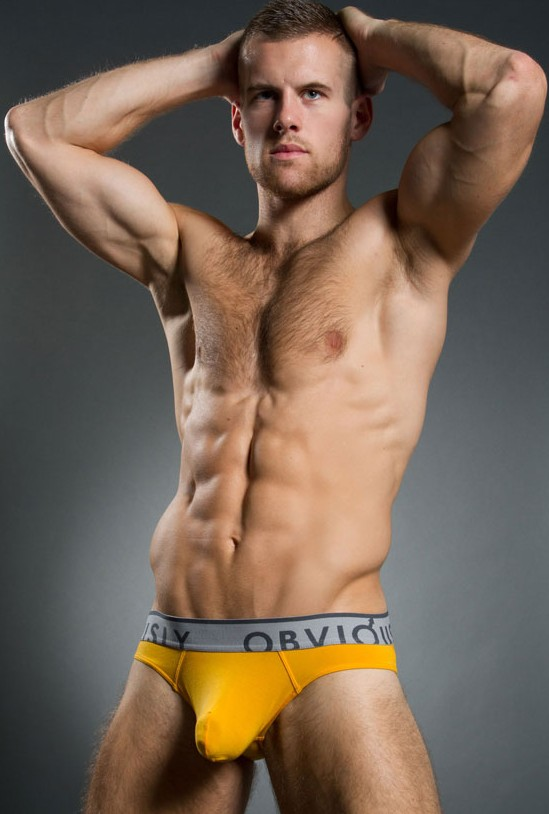 Which way did he go? Oh... he went that way? Dave points the clever way with his new Obviously For Men low rise briefs.