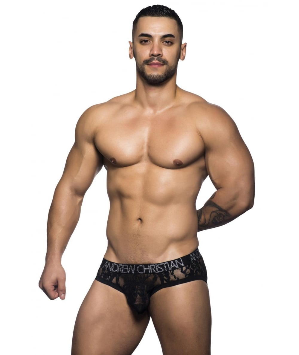 NSFW mens lace underwear by Andrew Christian.