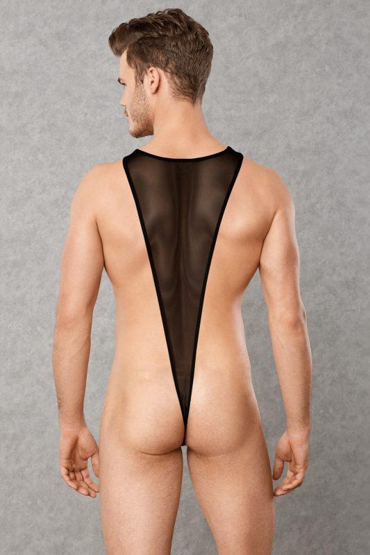 doreanse see through mens body thong rear view