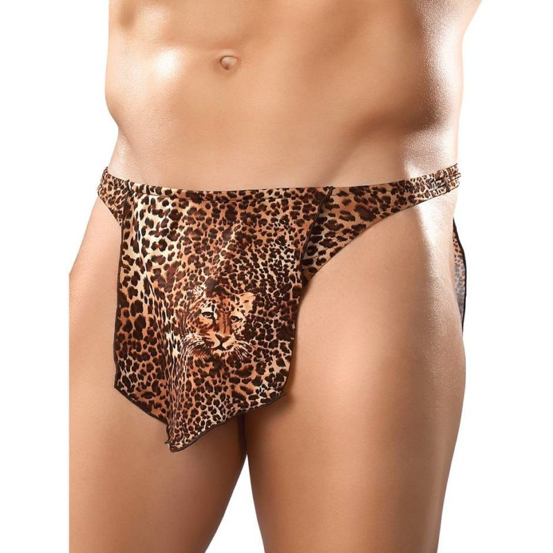 tarzan outfit loincloth with tiger print pattern