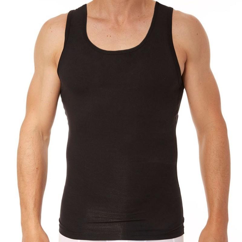 black men's tummy slimming vest by spanx