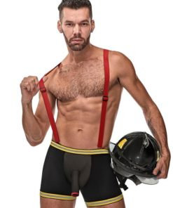 Male Power Hose Me Down Fireman Boxers and Braces